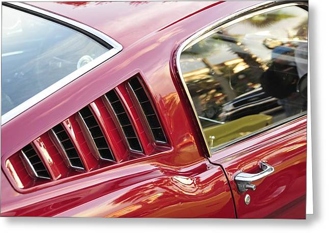 Antic Car Greeting Cards - Classic Mustang Fastback Greeting Card by David Lee Thompson