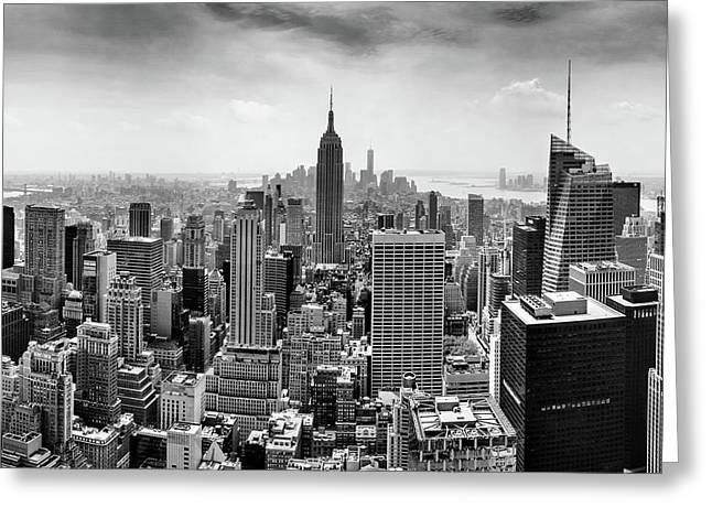 Foggy Photographs Greeting Cards - Classic New York  Greeting Card by Az Jackson