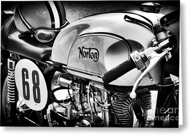 British Photographs Greeting Cards - Classic Norton Cafe Racer  Greeting Card by Tim Gainey