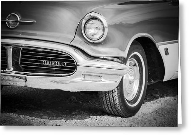 Smooth Ride Greeting Cards - Classic Oldsmobile  Greeting Card by Debra Forand