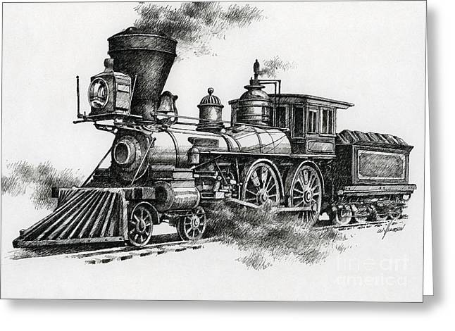 Transfer Greeting Cards - Classic Steam Greeting Card by James Williamson