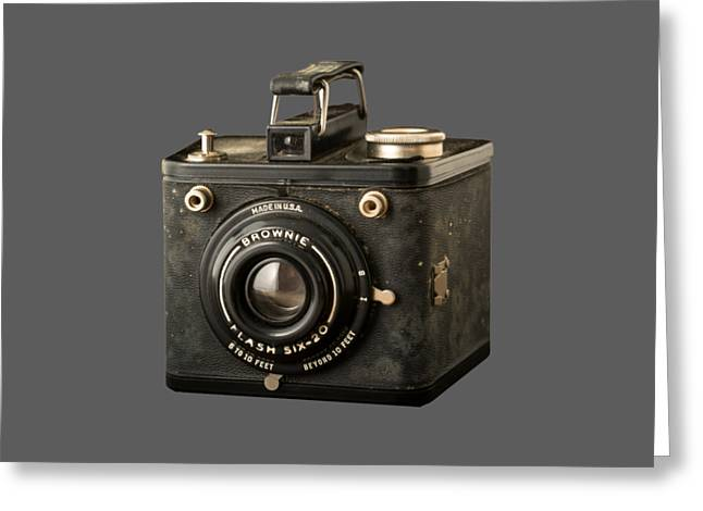 T Shirts Photographs Greeting Cards - Classic Vintage Kodak Brownie Camera Tee Greeting Card by Edward Fielding