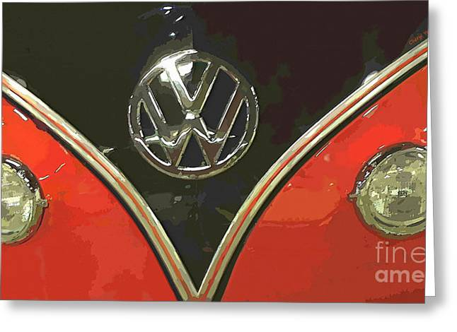 Love Bug Greeting Cards - Classic Volkswagen Greeting Card by Cheryl Young