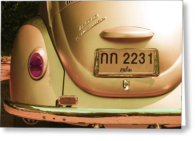 Gold Bug Greeting Cards - Classic VW Beetle in Thailand Greeting Card by Georgia Fowler