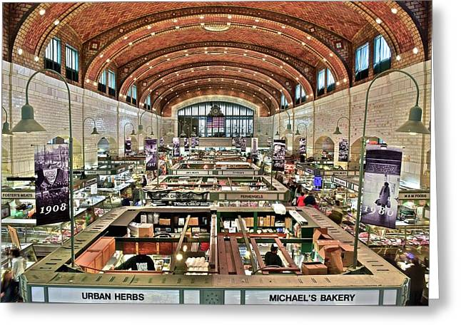 Classic Westside Market Greeting Card by Frozen in Time Fine Art Photography