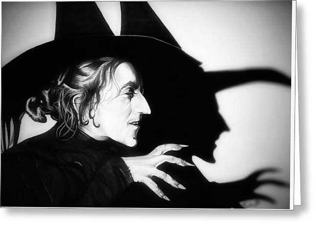 Wicked Witch Of The West Greeting Cards - Classic Wicked Witch of the West Greeting Card by Fred Larucci