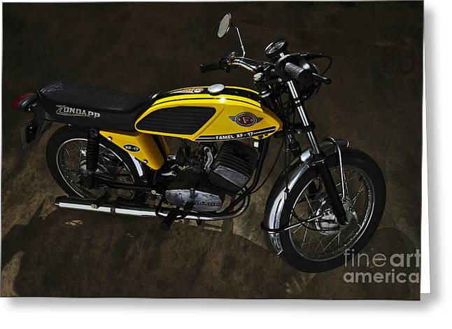 Component Greeting Cards - Classic Zundapp bike XF-17 in the garage Greeting Card by Angelo DeVal