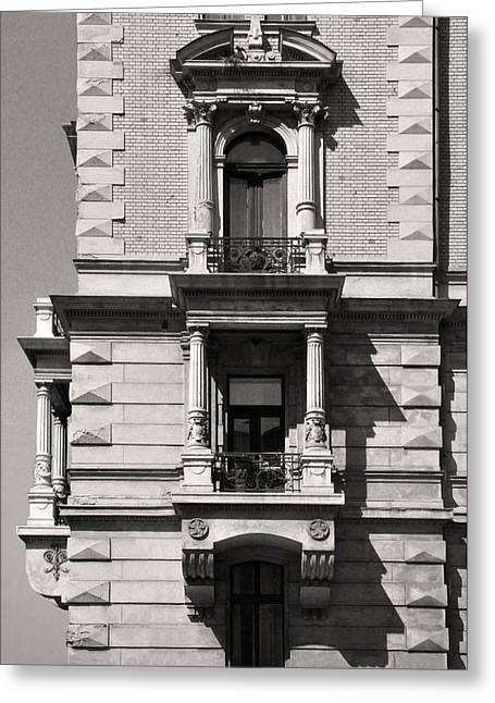 Belle Epoque Reliefs Greeting Cards - Classical Balcony Budapest Greeting Card by James Dougherty
