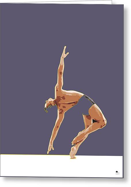Ballet Dancers Drawings Greeting Cards - Classical Ballet Dancer By Quim Abella Greeting Card by Joaquin Abella