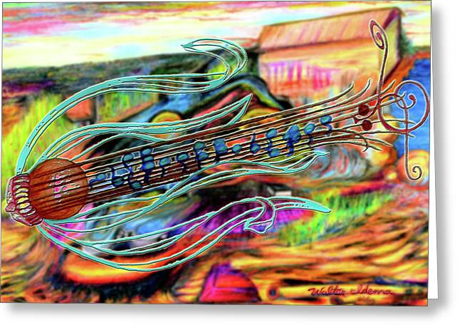 Classical Grass Greeting Card by Walter Idema