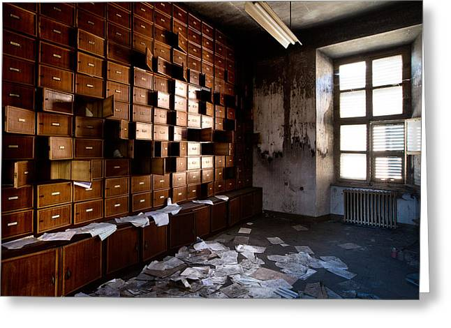 Abandoned Places Greeting Cards - Classified And Forgotten - Urban Exploration Greeting Card by Dirk Ercken