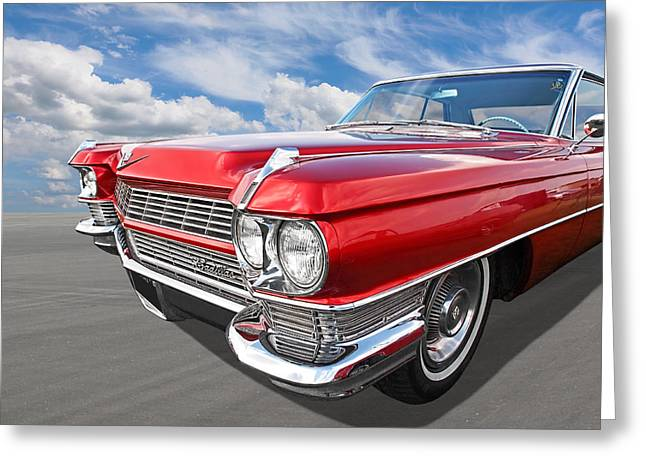 Restos Greeting Cards - Classy - 64 Cadillac Greeting Card by Gill Billington