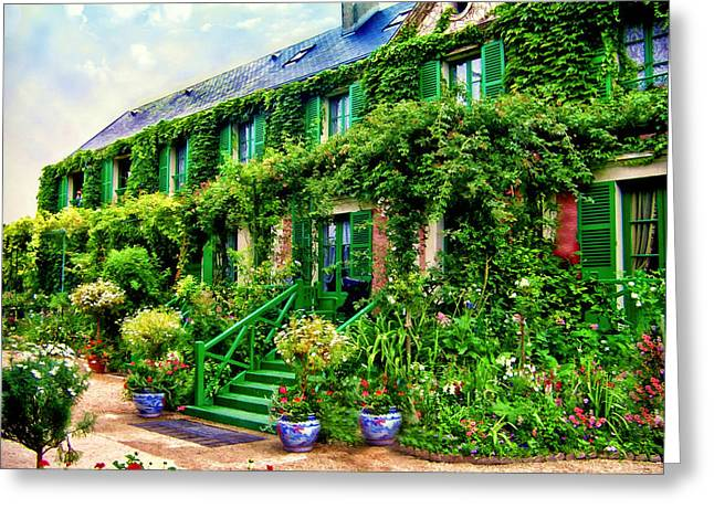 Claud Greeting Cards - Claud Monet Home in Giverney France Greeting Card by Jake Steele