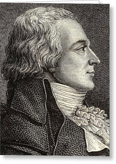 Anti Greeting Cards - Claude Bazire, 1764-1794,french Lawyer Greeting Card by Ken Welsh