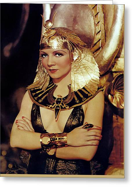 Colbert Greeting Cards - Claudette Colbert In Cleopatra 1934 Greeting Card by Dr Macro