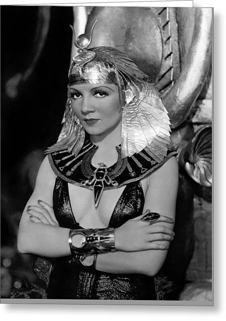 Colbert Greeting Cards - Claudette Colbert in Cleopatra 1934 Greeting Card by Paramount