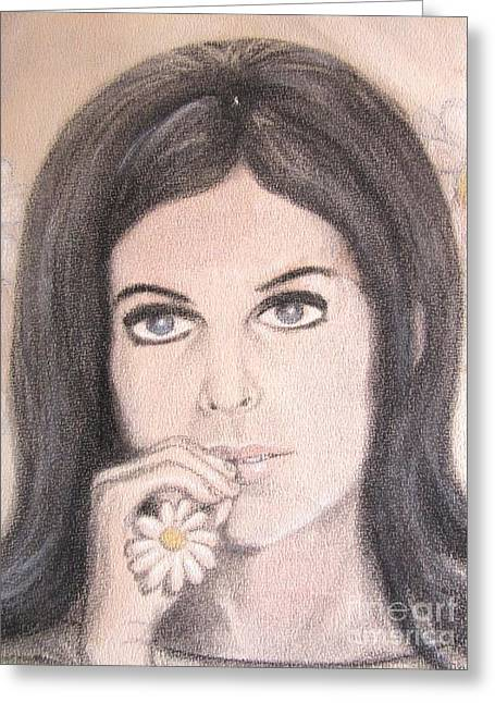 Wife Pastels Greeting Cards - Claudine Greeting Card by Gerald Ziolkowski