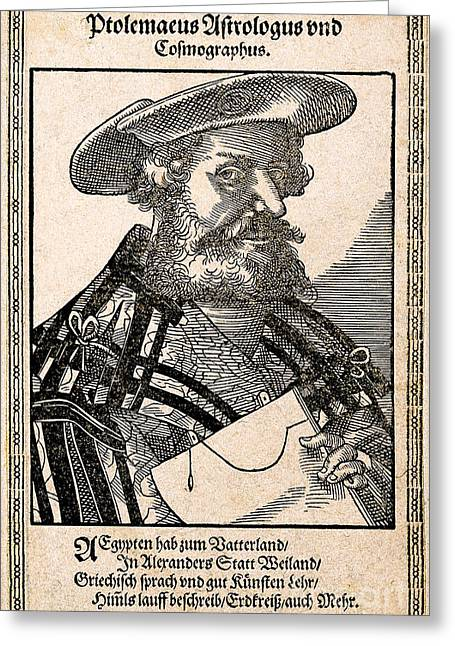 Claudius Greeting Cards - Claudius Ptolemy, Greek-roman Polymath Greeting Card by Wellcome Images
