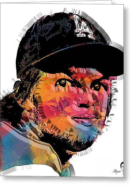 Cy Young Digital Greeting Cards - Clayton Kershaw Greeting Card by Dalon Ryan