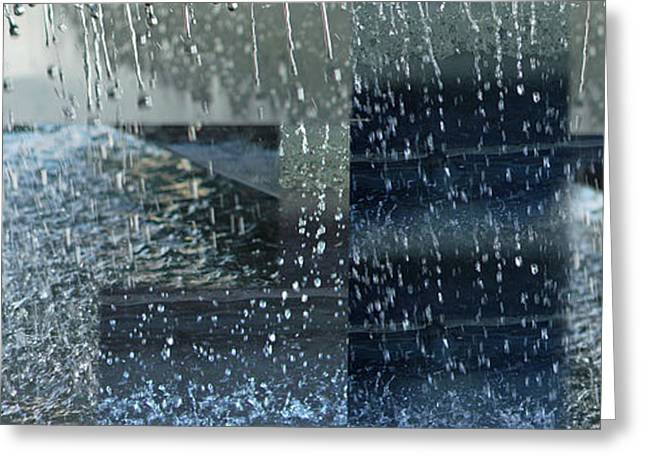 Abstract Rain Greeting Cards - Cleanse Greeting Card by Susie Capezzone