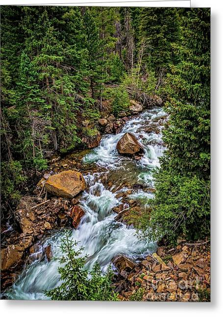 Clear Creek Greeting Card by Jon Burch Photography