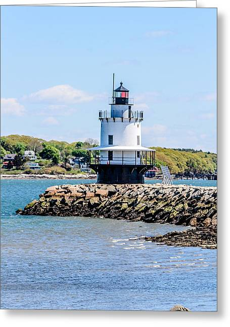 Maine Spring Greeting Cards - Clear Day Greeting Card by Victory  Designs