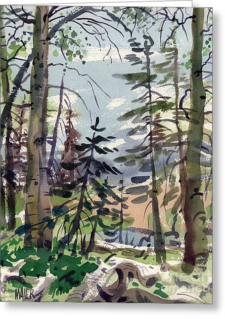 Lake Paintings Greeting Cards - Clear Lake Greeting Card by Donald Maier