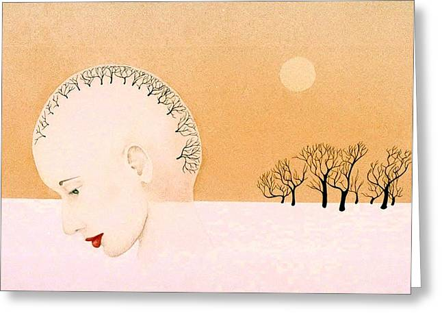 Clear Thought Greeting Card by Tara Peterson