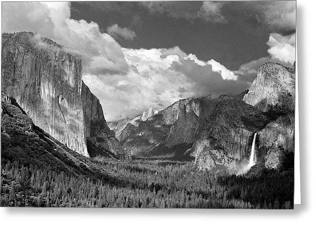 Tom And Pat Cory Greeting Cards - Clearing Skies Yosemite Valley Greeting Card by Tom and Pat Cory