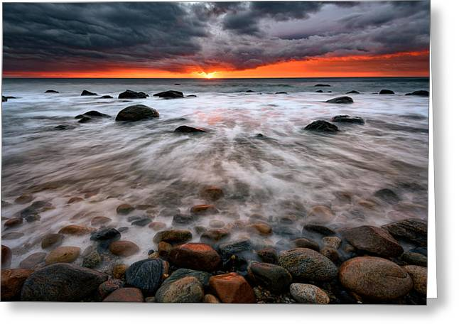 Clearing Storm At Montauk Point Greeting Card by Rick Berk
