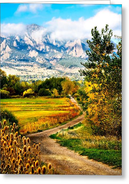 Clearly Colorado Greeting Card by Marilyn Hunt