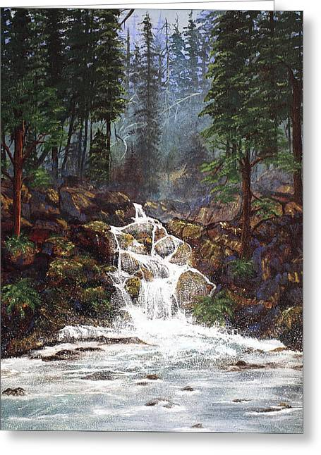 Diane Schuster Greeting Cards - Clearwater Falls Greeting Card by Diane Schuster