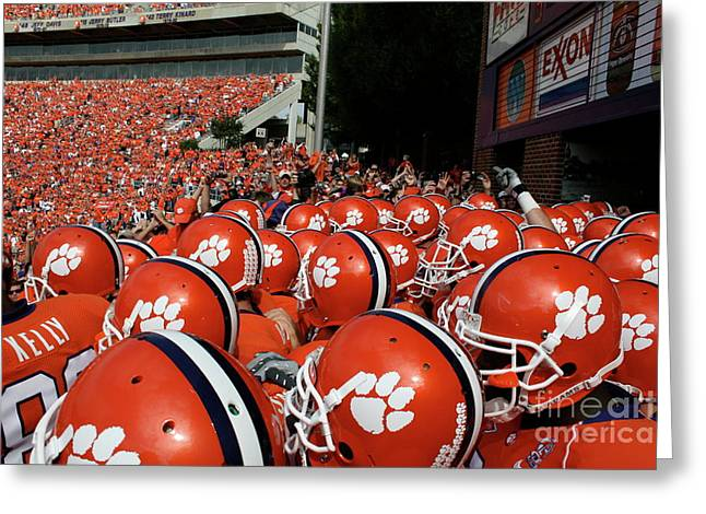 Clemson Tigers Greeting Card by Taylor C Jackson
