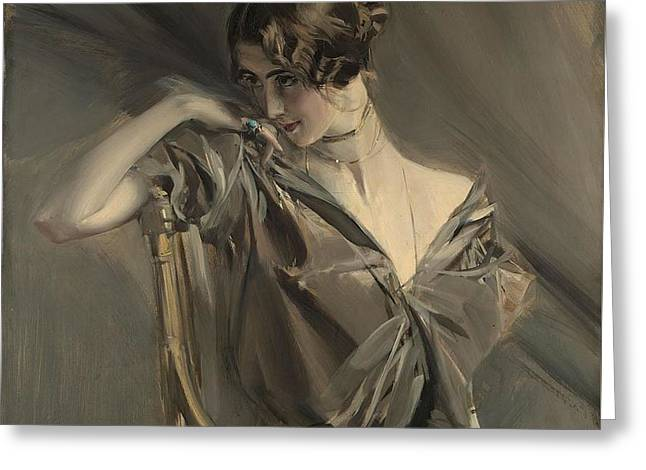 Cleo De Merode Greeting Card by Giovanni Boldini