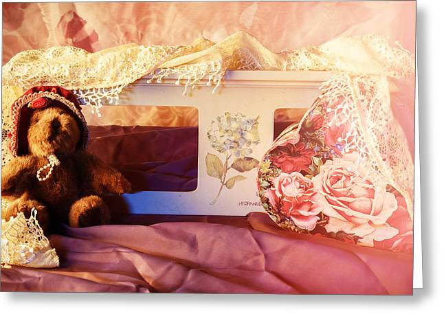 Baby Room Greeting Cards - Cleo the sweetheart Bear Greeting Card by Camille Lopez
