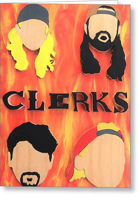 Clerks  Greeting Card by Michael Bergman