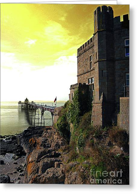Clevedon Greeting Cards - Clevedon Pier Greeting Card by Rob Hawkins