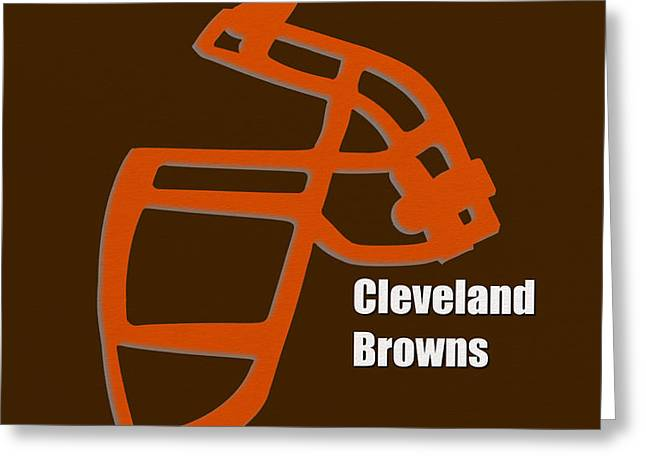 Cleveland Browns Greeting Cards - Cleveland Browns Retro Greeting Card by Joe Hamilton