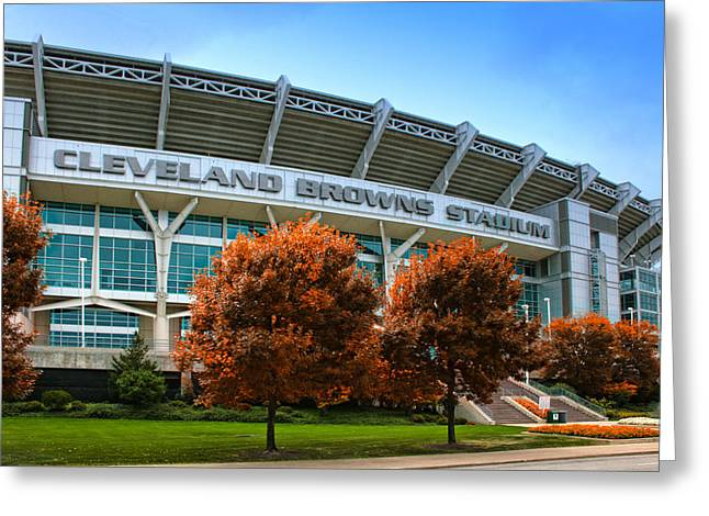 Cleveland Browns Greeting Cards - Cleveland Browns Stadium Greeting Card by Kenneth Krolikowski