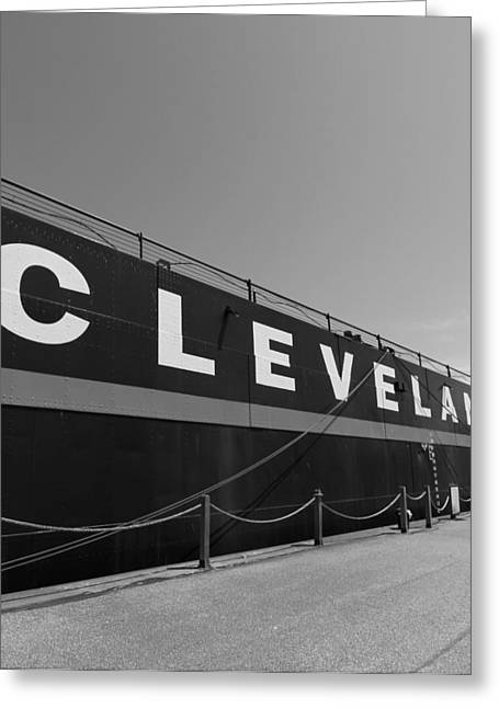 Recently Sold -  - Docked Boat Greeting Cards - Cleveland Greeting Card by Dan Sproul