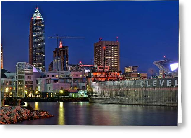 White Photographs Greeting Cards - Cleveland Image Number Two Fifty Greeting Card by Frozen in Time Fine Art Photography