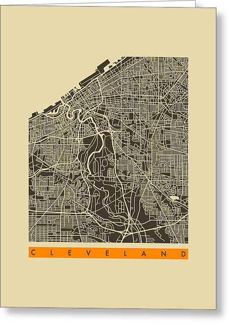 Cleveland Greeting Cards - Cleveland Greeting Card by Jazzberry Blue