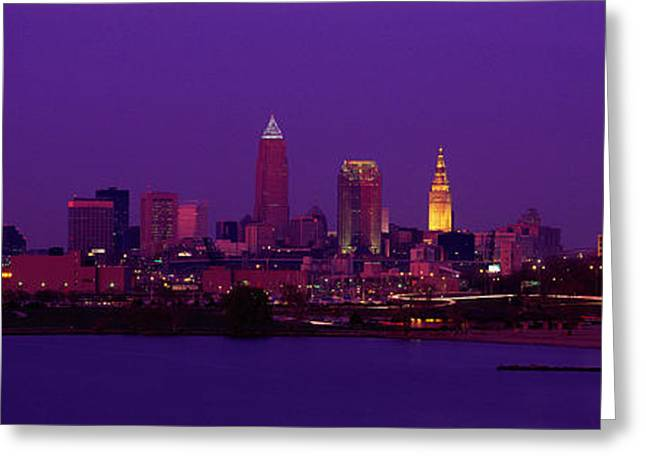 Ohs Greeting Cards - Cleveland Oh Greeting Card by Panoramic Images