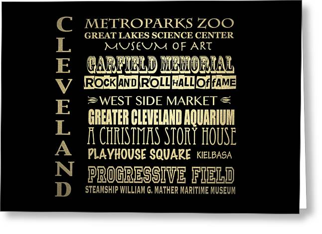 Fame Greeting Cards - Cleveland Ohio Greeting Card by Patricia Lintner