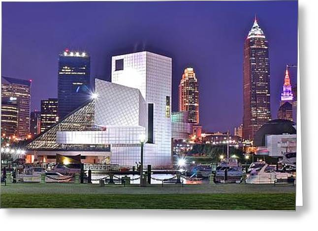 Fame Greeting Cards - Cleveland on the Move Greeting Card by Frozen in Time Fine Art Photography