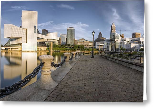 Greeting Cards - Cleveland panorama Greeting Card by James Dean