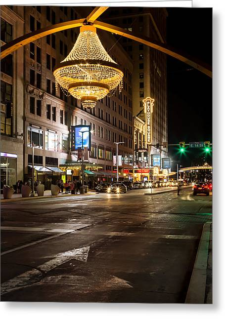 City Lights Greeting Cards - Cleveland Playhouse Square Greeting Card by Dale Kincaid
