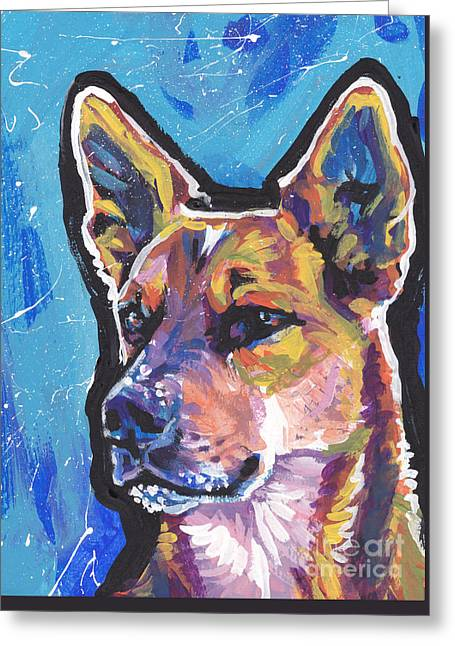 Australian Cattle Dog Greeting Cards - Click Your Red Heels Greeting Card by Lea