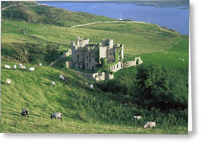 The Irish Image Collection Greeting Cards - Clifden Castle, Co Galway, Ireland 19th Greeting Card by The Irish Image Collection