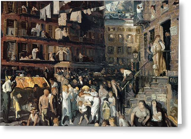 Cooperation Greeting Cards - Cliff Dwellers Greeting Card by George Wesley Bellows